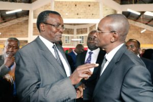 File image of former Chief Justice David Maraga and Justice Gatembu Kairu of the Court of Appeal. |Photo| Courtesy|
